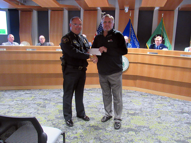 Janesville Police Department Receives Early Holiday Donation